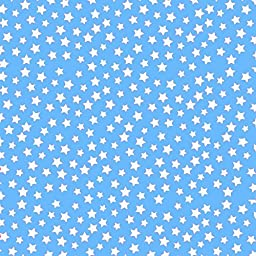 SheetWorld Fitted Pack N Play (Graco) Sheet - Primary Stars White On Blue Woven - Made In USA