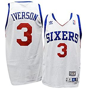 Philadelphia 76ers Allen Iverson White Soul Adidas Swingman Jersey