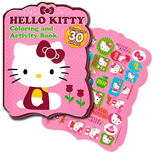 Hello Kitty - Shaped Coloring Book with Stickers