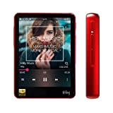 HiBy R3 Portable HiFi Music Player Bluetooth MP3 Player High Resolution Audio Player (Red) (Color: Red)