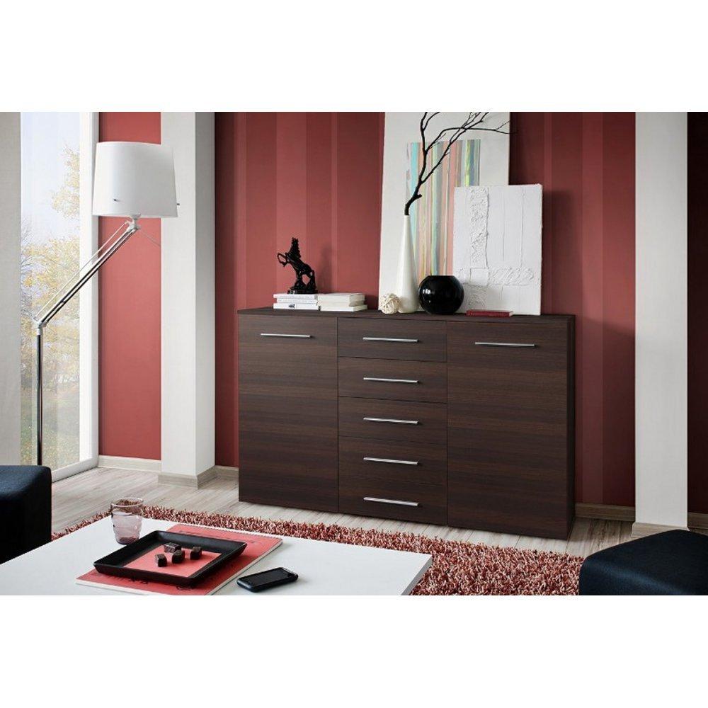 JUSThome Foxa Kommode Sideboard Wohnzimmerschrank (HxBxT): 103x150x40 cm Farbe: Wenge Matt