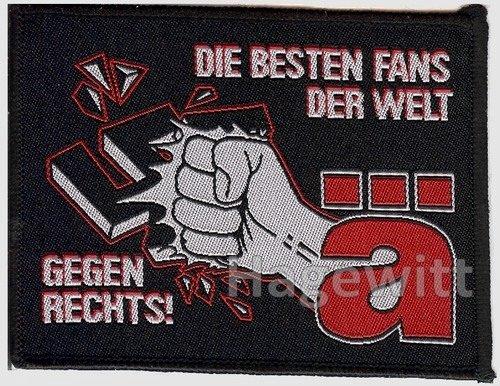 Die Ärzte - Die besten Fans der Welt gegen Rechts! - Aufnäher (Patch) schwarz (black)