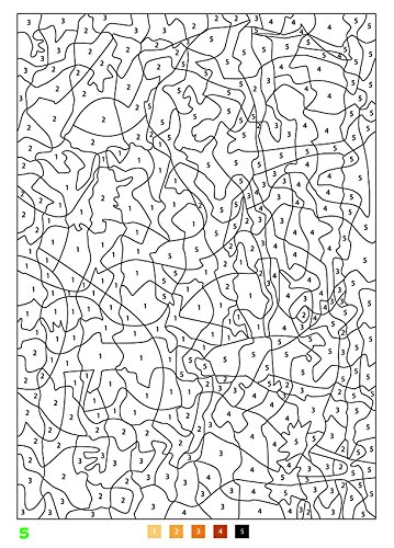 100パズルぬりえ&点つなぎ 1光と ... : パズル 数字 : パズル