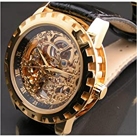 Eric Edelhausen Dorado Men's Gold Plated Automatic Skeleton