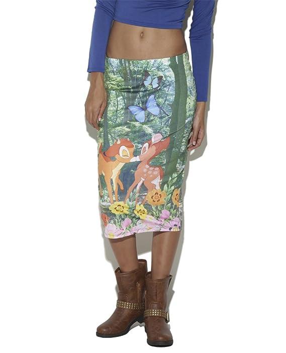 Bambi Kiss Sublimated Midi Skirt