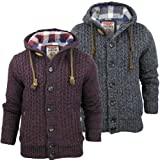 Mens Tokyo Laundry Cable Knit Hoodie Jumper/ Cardigan 'Watson' Nep Warm Linning