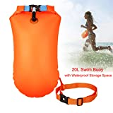 Swim Buoy 20L Waterproof Dry Bag Swim Safety Float Keep Gear Dry for Open Water Boating Kayaking Fishing Rafting Swimming Training and Camping