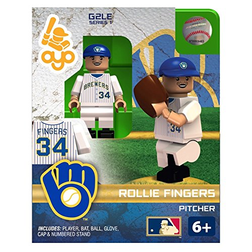 Rollie Fingers MLB Milwaukee Brewers Hall of Fame Oyo G2S1 Minifigure
