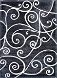 Modern Area Rug Design Gallery 23 Grey (8 Feet X 10 Feet)