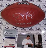 Joe Flacco Autographed Hand Signed Super Bowl XLVII Official Wilson NFL Leather Football - with SB XLVII MVP Inscription - PSA/DNA at Amazon.com