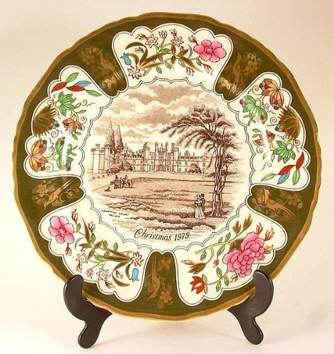 Masons Ironstone Christmas-Piatto 1979 Hampton Court Palace, quinto della serie CP2-CD