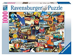 Ravensburger Road Trip Usa 1000 Piece Puzzle Toys Games