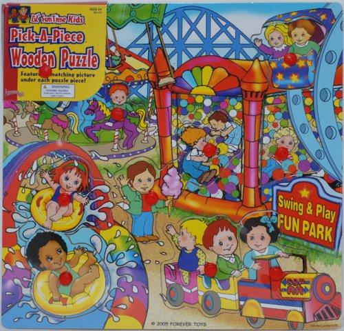 Cheap Forever Toys Lil' Fun Time Kids Pick-A-Piece Wooden Puzzle – Fun Park (B001CM2YQ8)