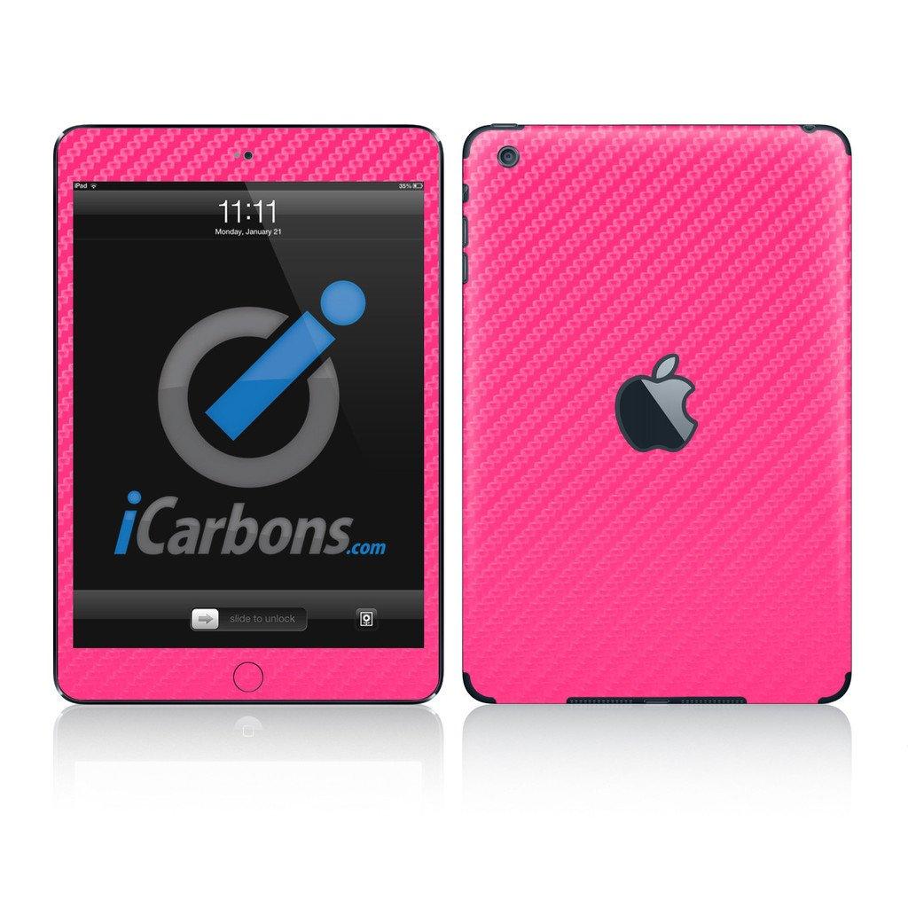 купить iCarbons Pink Carbon Fiber Vinyl Skin for iPad Mini Combo (1st Gen.) Wifi Only дешево