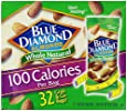 Blue Diamond Almonds 100 Calories Per Bag - 32 Grab and Go Bags,.625 Oz (Individual),20 Oz (net Weight)