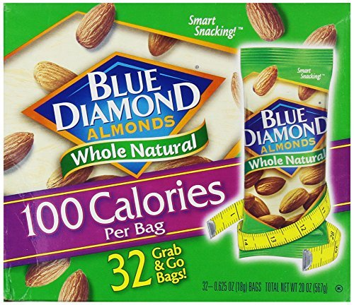 Blue Diamond Almonds 100 Calories Per Bag - 32 Grab and Go Bags,.625 Oz (Individual),20 Oz (net Weight) (Nut Packs compare prices)