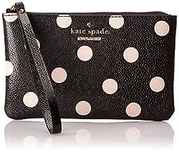 Kate Spade New York Cedar Street Dot Bee Clutch Black/Deco Beige One Size