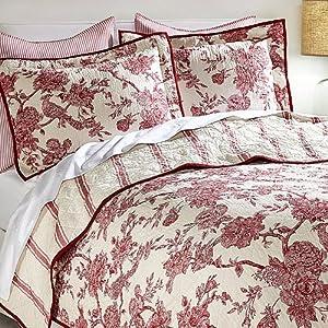 Amazon.com - India Hicks English Garden 3-piece Quilt Set -