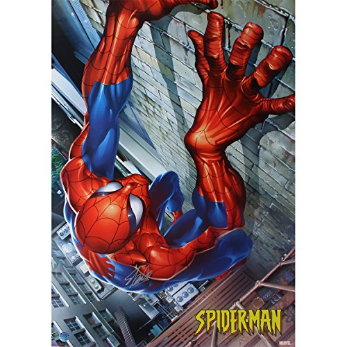 Stan Lee Spider Man Climbing 24 inch x 36 inch Poster Stan Lee Authenticated