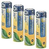 Pack of 4 AA NiMH Rechargable Batteries - 2800mAh