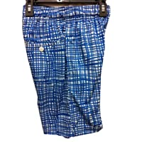 Lacrosse Gear Mesh Shorts back pocket Screen Plaid War Royal Blue Adult