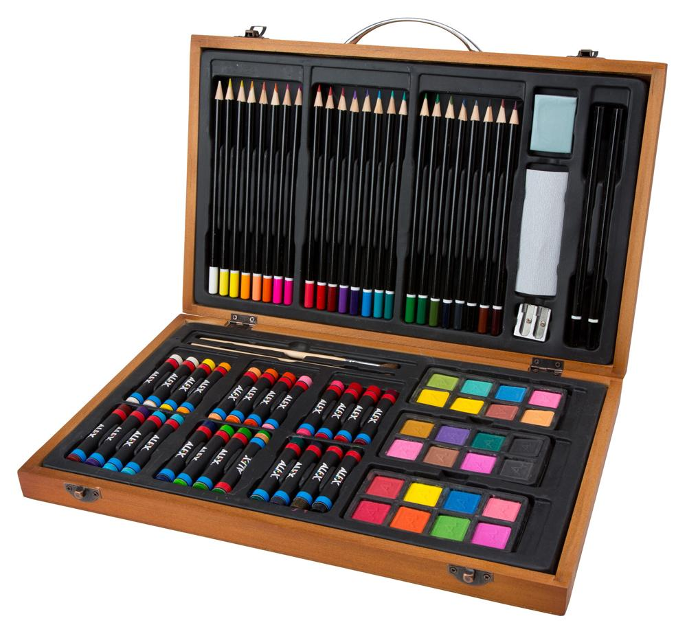 80 piece set includes watercolors pastels colored for Casa amazon