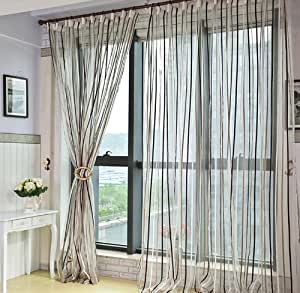 Variants.... Striped white sheer panel curtains valuable phrase