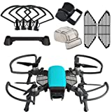 Kuuqa 5 Pcs Accessories Kits for Dji Spark, Including 2 In 1 Propeller Guard with Foldable Landing Gear, Gimbal Camera Guard, Lens Hood, Finger Guard Board, Joystick Protector (Dji Spark Not Included)