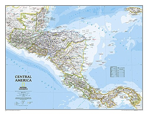 Central America Classic [Tubed] (National Geographic Reference Map)