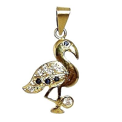 18k gold pendant zircons Flemish sapphires [286]