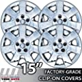 2000-2008 Ford Taurus 15 Inch Chrome Clip-On Hubcap Covers