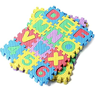 Youpin 36pcs Puzzle Kid Educational Toy,Mini Size Alphabet A-Z Numeral Numbers Soft Foam Jigsaw Mat For Children Baby Age 1-7