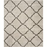 Safavieh Belize Shag Collection SGB489D Taupe and Grey Area Rug, 8-Feet by 10-Feet