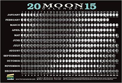 Calendar Dates 2015 2015 Moon Calendar Card 5