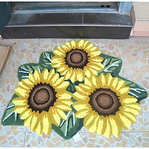Ustide 3 Sunflower Rugs For Kitchen Handmade Rug Yellow