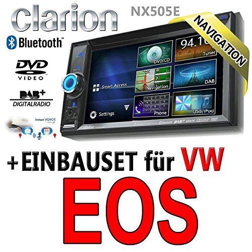 VW eos clarion nX505E 2-dIN navigationsradio intelligent vOICE TM, hDMI, uSB