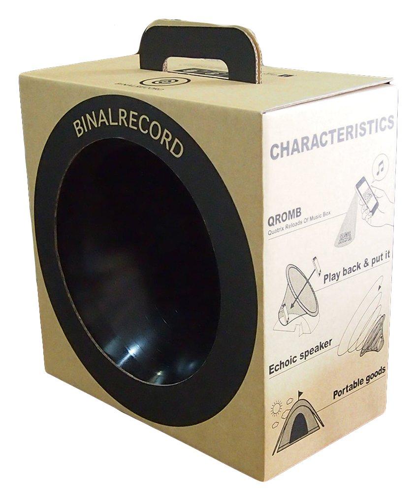 スマホを置くだけで音が倍鳴る!【バイナルレコード】蓄音機の原理で音量が2倍。