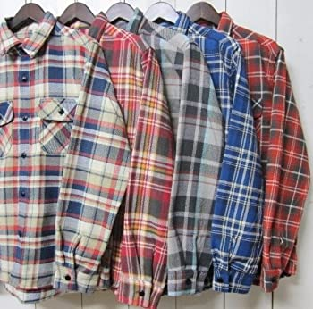 ファイブブラザー ネルシャツ five brother [work shirts][ls][flannel][5] (L, 2.true red)