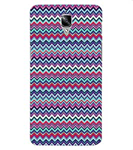 ColourCraft Tribal Pattern Design Back Case Cover for OnePlus Three