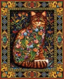 White Mountain Puzzles Tapestry Cat - 10...