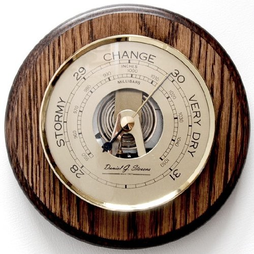 Daniel G Stevens Fischer Barometer 150mm Solid Oak Surround