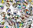 50pcs Tschechische Facettierten Glasperlen Fire-Polished Rund 6 mm Crystal Vitrail