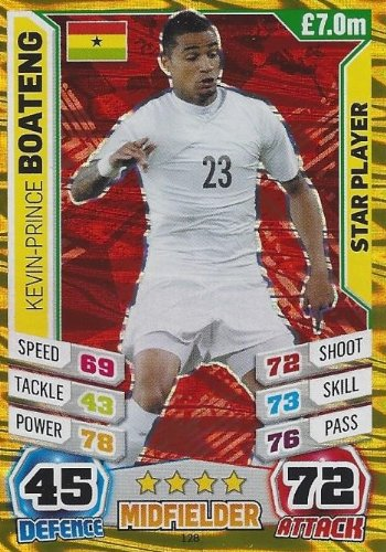 Match Attax England World Cup 2014 Kevin-Prince Boateng Star Player