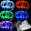 XCSOURCE� 2M SMD 5050 RGB MultiColor LED Strip Light 12V IR Remote Set Power Adapter