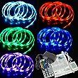 2m RGB LED Lichtband 5050 30LEDs/m +44 Tasten Fernbedienung + Netzteil Wasserdicht LD155