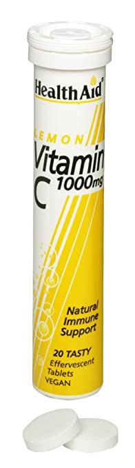 HealthAid Vitamin C 1000mg (Lemon)- 20 Effervescent Tablets