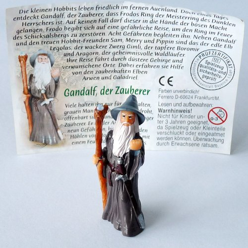 Kinder &#220;berraschung Gandalf der graue - Zauberer mit Beipackzettel, aus dem Film Der Herr der Ringe eins