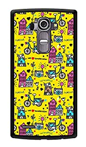 """Humor Gang My World Doodle Printed Designer Mobile Back Cover For """"LG G4"""" (2D, Glossy, Premium Quality, Protective Snap On Slim Hard Phone Case, Multi Color)"""
