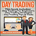 Day Trading: 3 Manuscripts: A Beginner's Guide to Day Trading, Day Trading Strategies, Day Trading Tips & Tricks Audiobook by Matthew Maybury Narrated by Mark Shumka