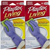 Playtex Living Antimicrobial Gloves, Medium - 2 pk